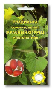 Красный огурец (Тладиа́нта) описание, размножение, уход, фото