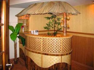 Применение бамбука в интерьере фото