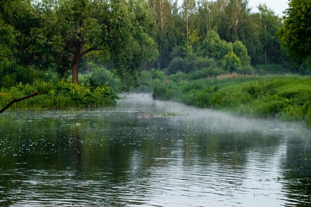 река фото, небольшая спокойная речушка